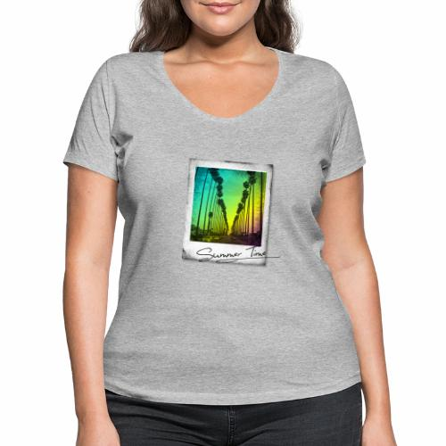 Summer Time - Women's Organic V-Neck T-Shirt by Stanley & Stella