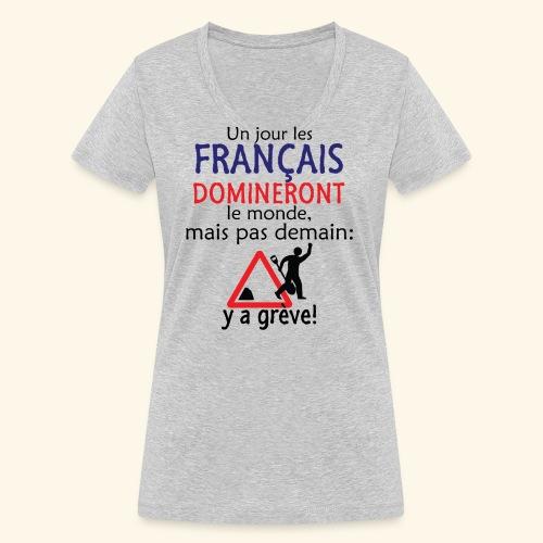 domination française - T-shirt bio col V Stanley & Stella Femme