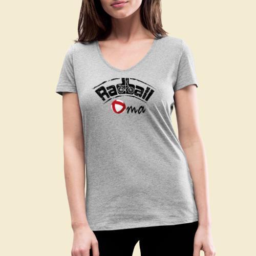 Radball   Oma - Frauen Bio-T-Shirt mit V-Ausschnitt von Stanley & Stella