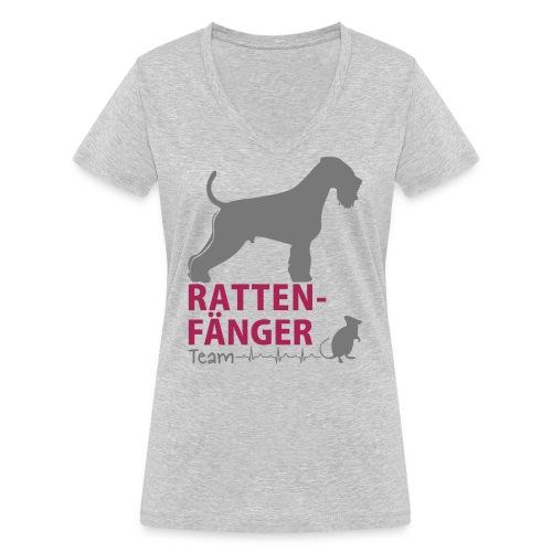 Team Rattenfänger - Frauen Bio-T-Shirt mit V-Ausschnitt von Stanley & Stella
