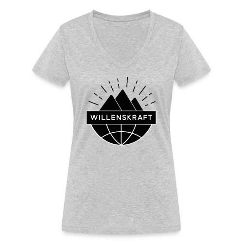 Willenskraft_Welt - Frauen Bio-T-Shirt mit V-Ausschnitt von Stanley & Stella