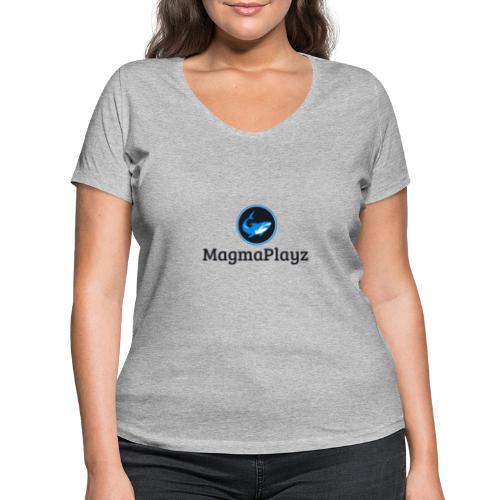 MagmaPlayz shark - Økologisk Stanley & Stella T-shirt med V-udskæring til damer