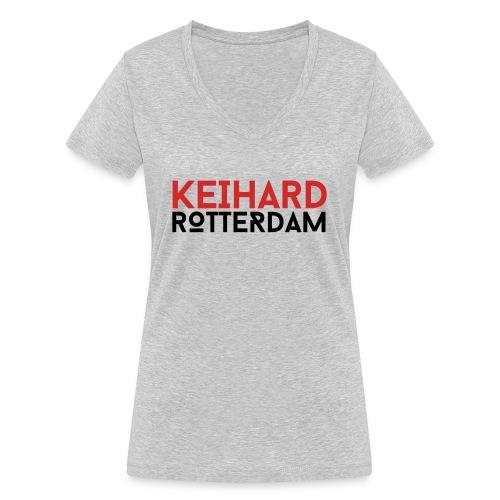 Keihard Rotterdam - Vrouwen bio T-shirt met V-hals van Stanley & Stella