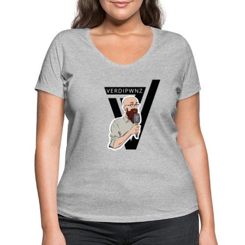 Logo Face - Frauen Bio-T-Shirt mit V-Ausschnitt von Stanley & Stella