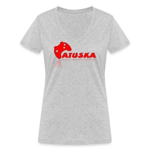 Atuska - Stanley & Stellan naisten v-aukkoinen luomu-T-paita