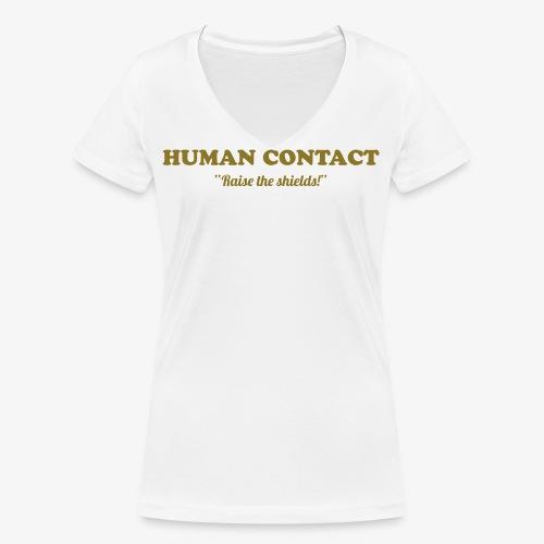 human-contact - Stanley & Stellan naisten v-aukkoinen luomu-T-paita