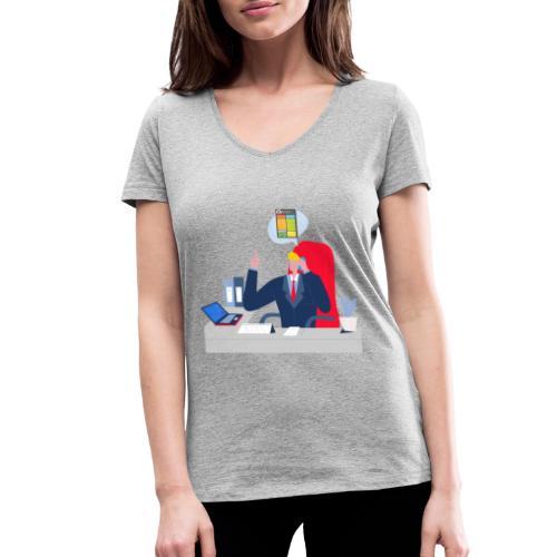 Jefe - Camiseta ecológica mujer con cuello de pico de Stanley & Stella