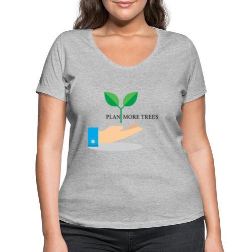 Amor a la naturaleza - Camiseta ecológica mujer con cuello de pico de Stanley & Stella