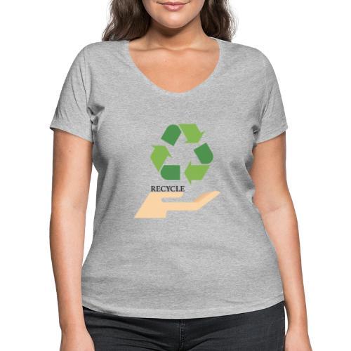 Reciclaje - Camiseta ecológica mujer con cuello de pico de Stanley & Stella