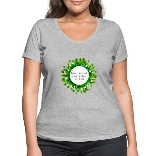 Ambiente - Camiseta ecológica mujer con cuello de pico de Stanley & Stella