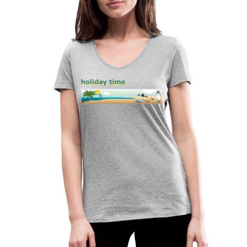 holiday time - T-shirt ecologica da donna con scollo a V di Stanley & Stella