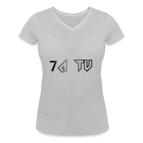 7A TV - Women's Organic V-Neck T-Shirt by Stanley & Stella