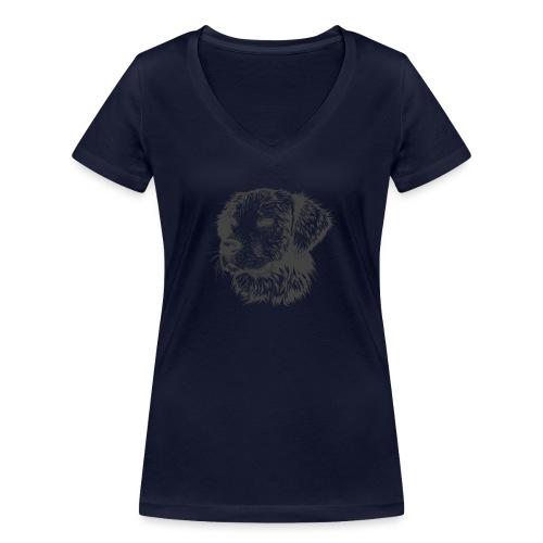 koiran kuva - Stanley & Stellan naisten v-aukkoinen luomu-T-paita