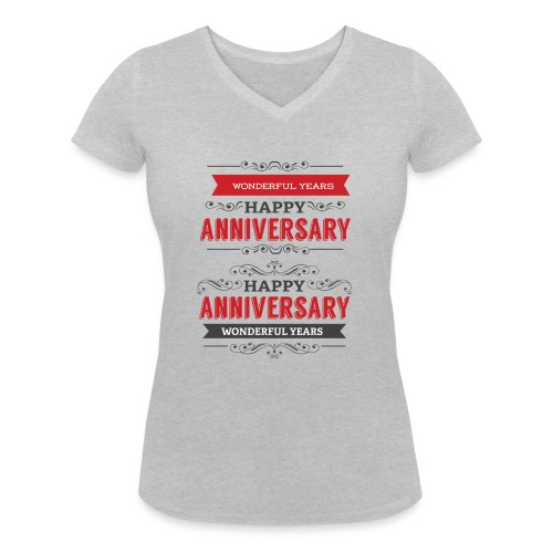 gift happy anniversary,wonderful years - T-shirt bio col V Stanley & Stella Femme