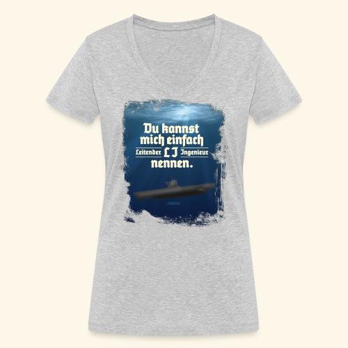 Ingenieur T Shirt Leitender Ingenieur LI - Frauen Bio-T-Shirt mit V-Ausschnitt von Stanley & Stella