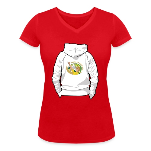 hoodyback - Vrouwen bio T-shirt met V-hals van Stanley & Stella