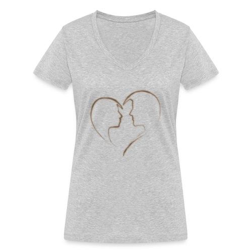 loving - Frauen Bio-T-Shirt mit V-Ausschnitt von Stanley & Stella