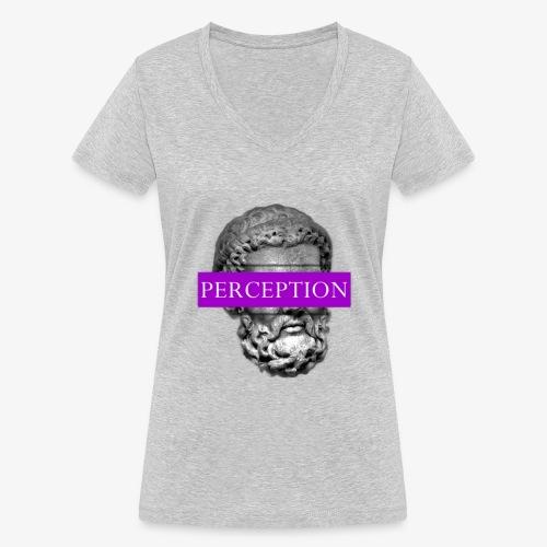 TETE GRECQ PURPLE - PERCEPTION CLOTHING - T-shirt bio col V Stanley & Stella Femme