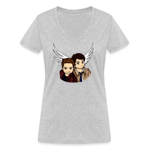 Destiel i farver - Økologisk Stanley & Stella T-shirt med V-udskæring til damer