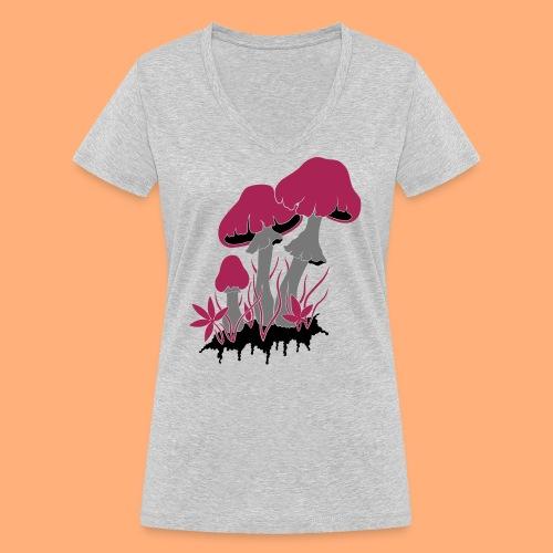champignons - T-shirt bio col V Stanley & Stella Femme
