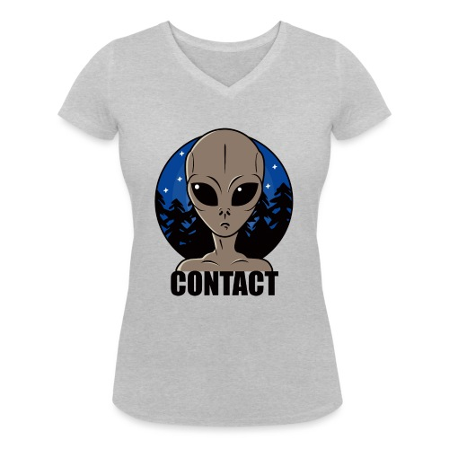Contact Extraterrestre - T-shirt bio col V Stanley & Stella Femme