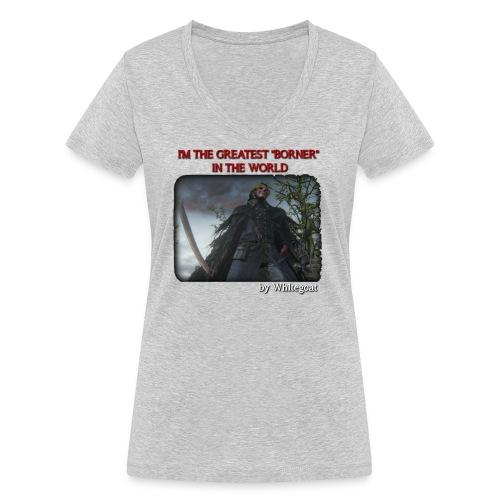 BERTOLDO SHIRT CROP png - T-shirt ecologica da donna con scollo a V di Stanley & Stella