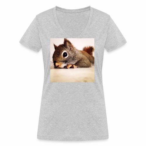écureuil So Cute - T-shirt bio col V Stanley & Stella Femme