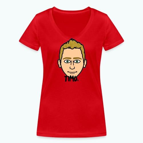 Logo TIMO. - Vrouwen bio T-shirt met V-hals van Stanley & Stella