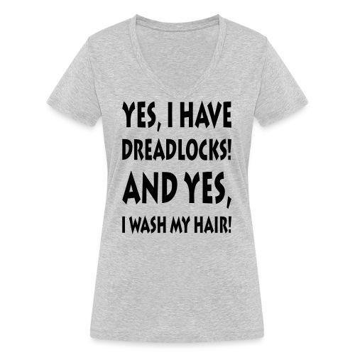 Dreadlocks / Filzlocken - Frauen Bio-T-Shirt mit V-Ausschnitt von Stanley & Stella