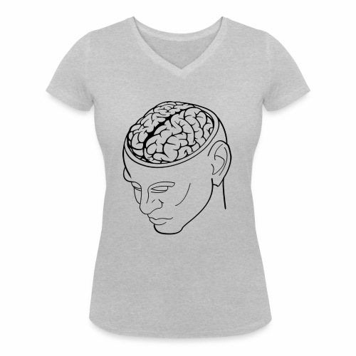 capoccia - T-shirt ecologica da donna con scollo a V di Stanley & Stella