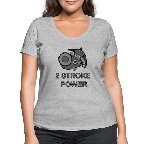 2 stroke power - T-shirt ecologica da donna con scollo a V di Stanley & Stella