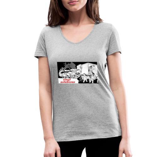 vinyl solutionz - Women's Organic V-Neck T-Shirt by Stanley & Stella