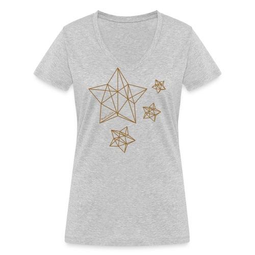Sternenhimmel Diamant - Frauen Bio-T-Shirt mit V-Ausschnitt von Stanley & Stella