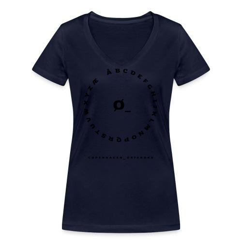Østerbro - Økologisk Stanley & Stella T-shirt med V-udskæring til damer