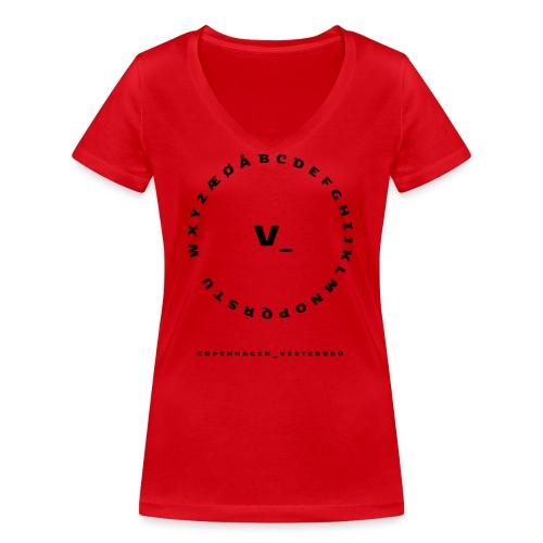 Vesterbro - Økologisk Stanley & Stella T-shirt med V-udskæring til damer