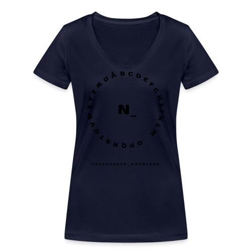 Nørrebro - Økologisk Stanley & Stella T-shirt med V-udskæring til damer