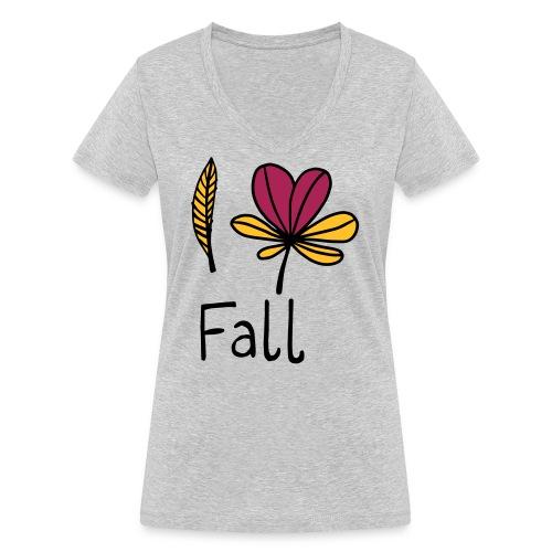 Fall in love - Frauen Bio-T-Shirt mit V-Ausschnitt von Stanley & Stella