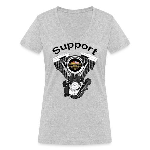 Support Indis bunt evolution engine - Frauen Bio-T-Shirt mit V-Ausschnitt von Stanley & Stella