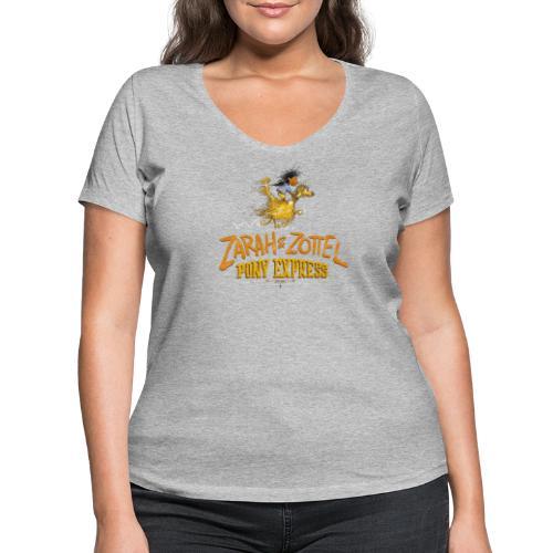 Zarah und Zottel Pony Express - Frauen Bio-T-Shirt mit V-Ausschnitt von Stanley & Stella