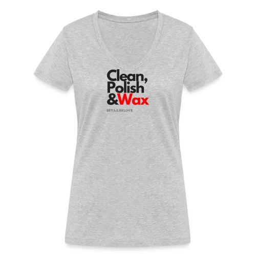 Clean,polish en wax - Vrouwen bio T-shirt met V-hals van Stanley & Stella