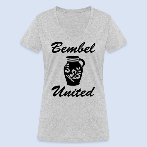 Bembel United Hessen - Frauen Bio-T-Shirt mit V-Ausschnitt von Stanley & Stella