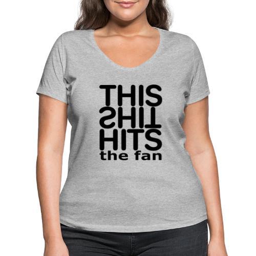 TSHTF BLACK - Camiseta ecológica mujer con cuello de pico de Stanley & Stella