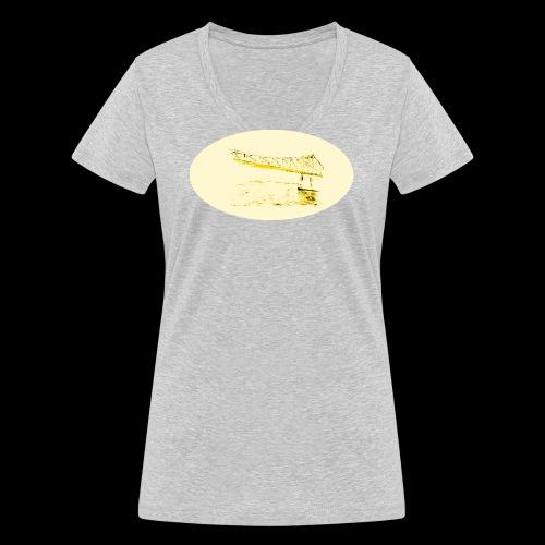 Eiserner Steg Gelb - Frauen Bio-T-Shirt mit V-Ausschnitt von Stanley & Stella