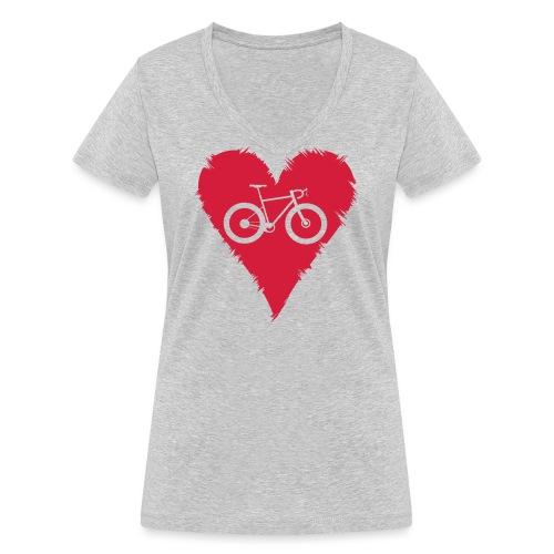 I love bicycles - Frauen Bio-T-Shirt mit V-Ausschnitt von Stanley & Stella
