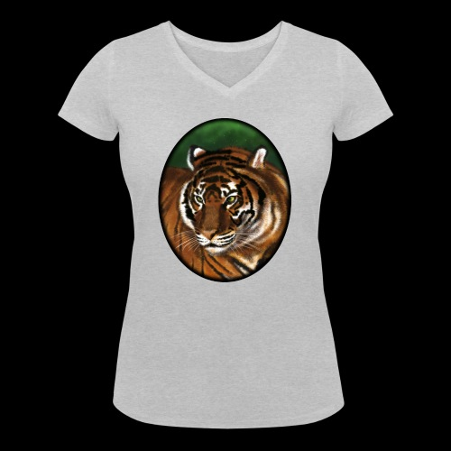 Tiger - Women's Organic V-Neck T-Shirt by Stanley & Stella
