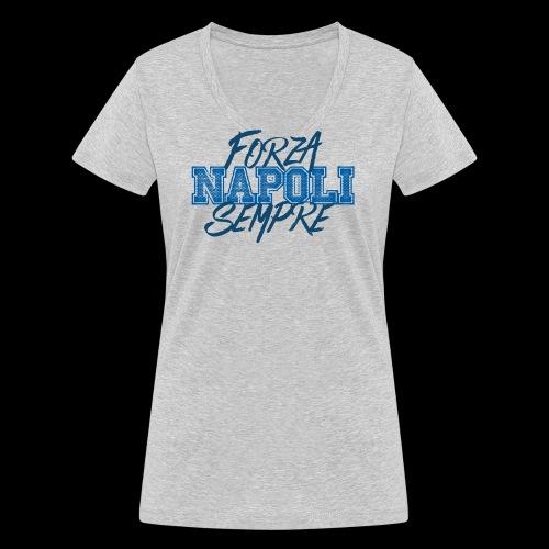 Forza Napoli Sempre - T-shirt ecologica da donna con scollo a V di Stanley & Stella