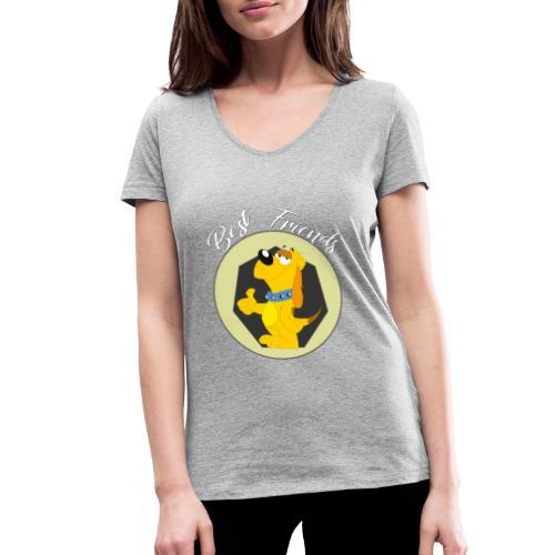 Best friends - Camiseta ecológica mujer con cuello de pico de Stanley & Stella