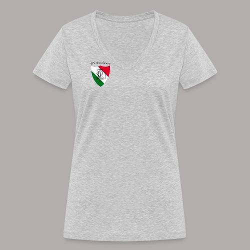 Wappen Struthonia (vorne) - Frauen Bio-T-Shirt mit V-Ausschnitt von Stanley & Stella