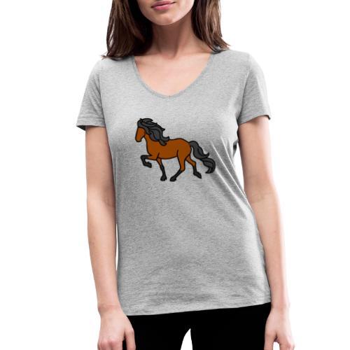 Islandpferd, Brauner, heller - Frauen Bio-T-Shirt mit V-Ausschnitt von Stanley & Stella