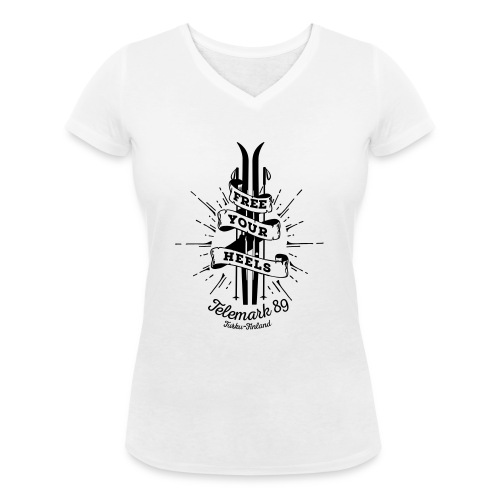 FreeYourHeels_merge - Stanley & Stellan naisten v-aukkoinen luomu-T-paita